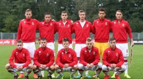 29. TURNIEJ O PUCHAR SYRENKI U-17 MECZ GRUPA A: POLSKA - LOTWA 1:0 --- 29TH EDITION OF THE YOUTH INTERNATIONAL TOURNAMENT SYRENKA CUP FOOTBALL MATCH U17 GROUP A: POLAND - LATVIA 1:0